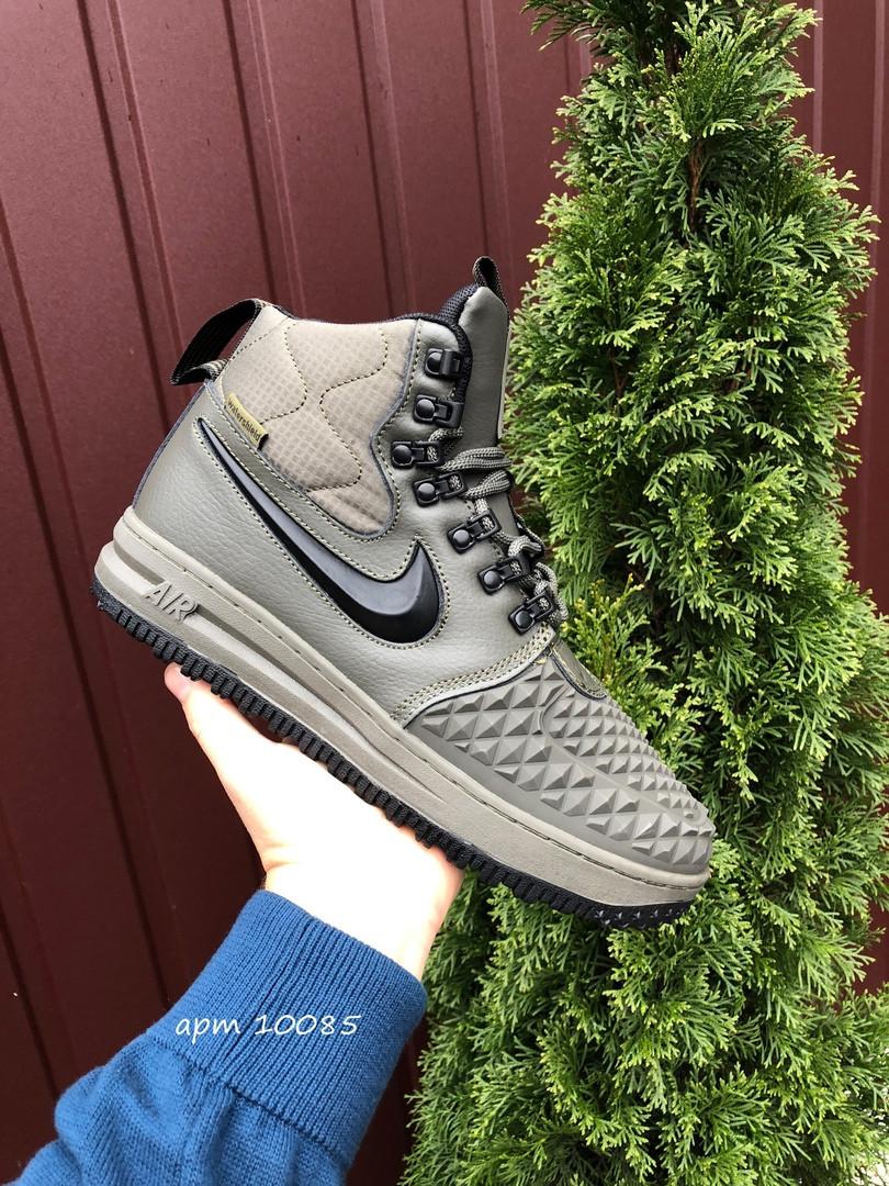 Мужские зимние кроссовки Nike Lunar Force 1 Duckboot (темно-зеленые) 10085