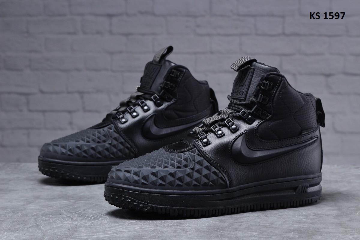 Мужские кроссовки Nike LF1 Duckboot (черные) ЗИМА KS 1597