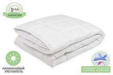 Одеяло силиконовое белое, размер 140 х 220 см, зимнее плюс