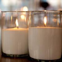 Насыпные свечи белые