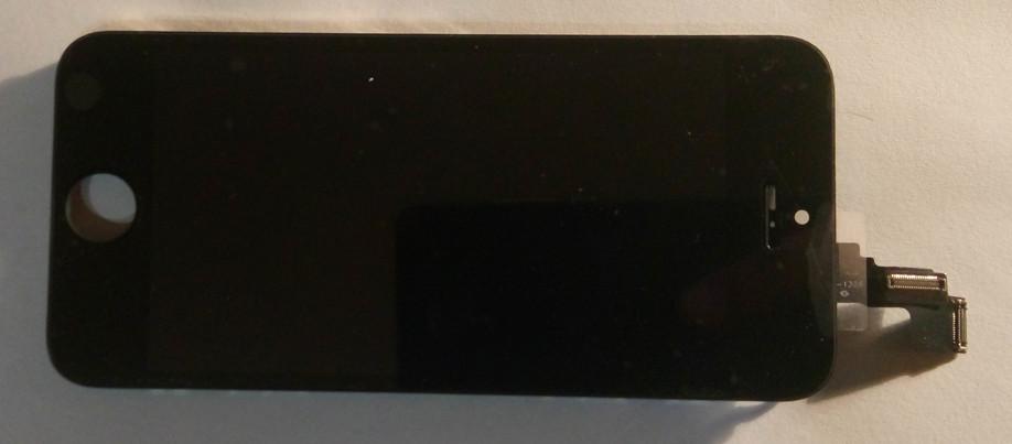Дисплей модуль iPhone 5c в зборі з тачскріном чорний, копія Tianma