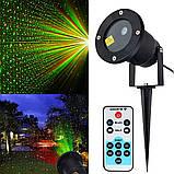 Лазерный новогодний проектор с пультом для дома и улицы Laser Light + проектор звездного неба Star Master, фото 9
