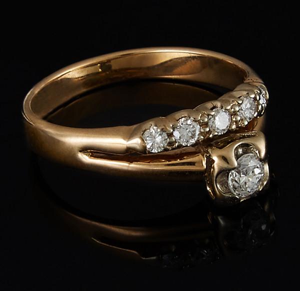 Золотое кольцо с бриллиантами С42Л1№8