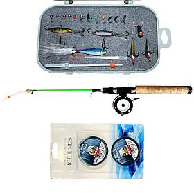 Рибальський набір для зимової риболовлі з Вольфрамовими мормышками №3
