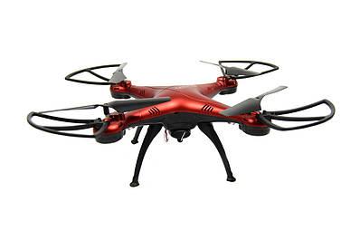Квадрокоптер летающий дрон Drone 1 million Wifi Pro DM 93 с камерой Красный 184180