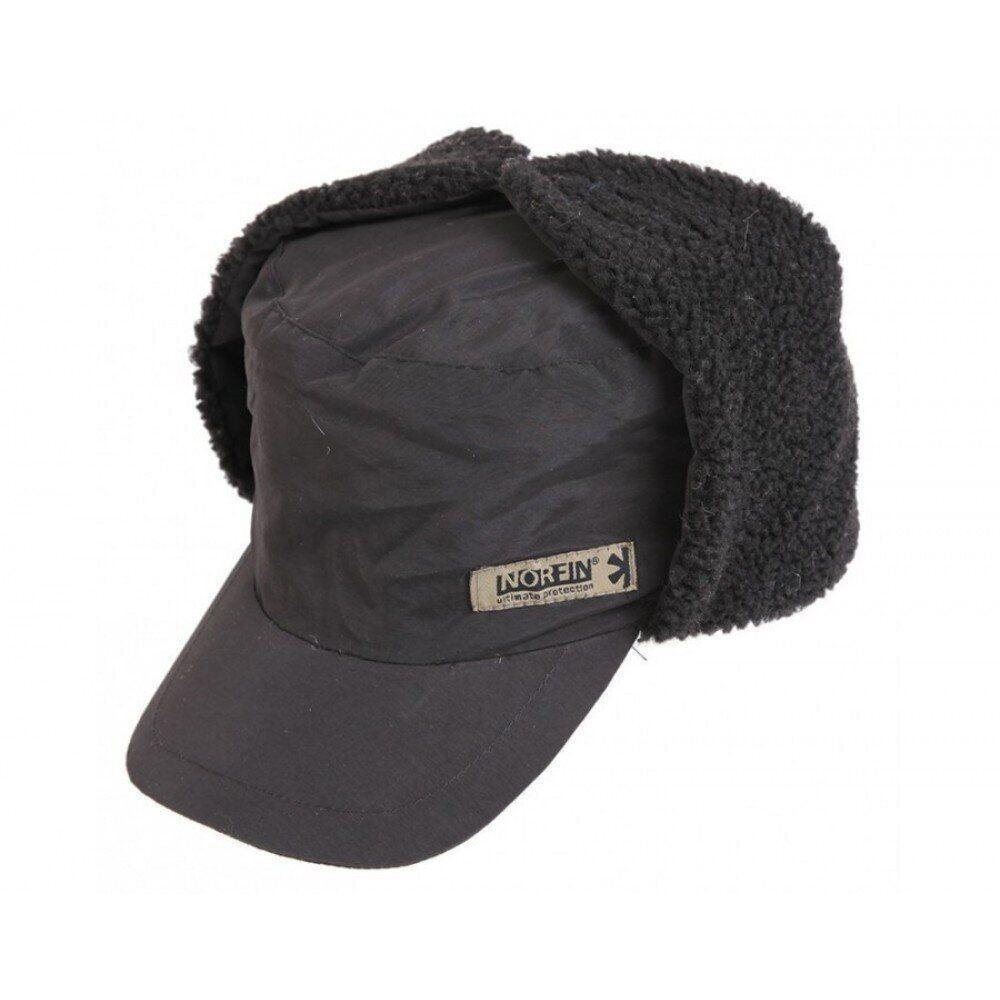 Шапка-ушанка на меху Norfin Inari Black 302781