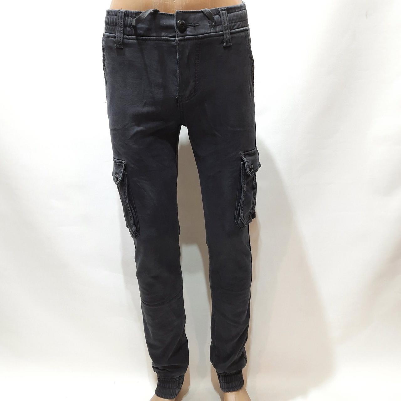 Зимние мужские джинсы, р. 29,31,33 теплые карго на флисе Reman Denim серые р. 31,32,33,38