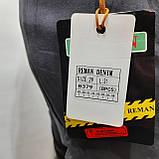 Зимові чоловічі джинси, р. 29,31,33 теплі карго на флісі Reman Denim сірі р. 31,32,33,38, фото 6