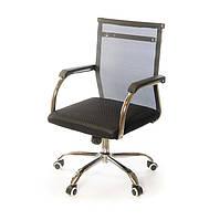 Кресло офисное на колесиках АКЛАС Мираж FX CH TILT компьютерное кресло такань, черное с нагрузкой до 120 кг