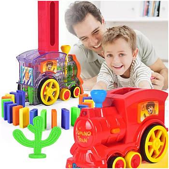 Набір іграшок-поїзд доміно Happy Truck sciries 100 деталей
