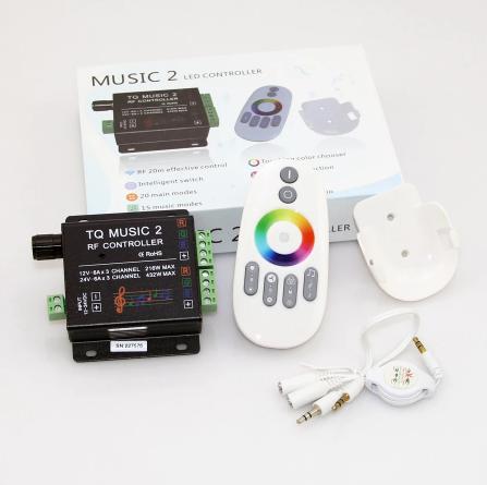 Радио контроллер rgb TQ Music 2. 12А 144вт music для светодиодной ленты