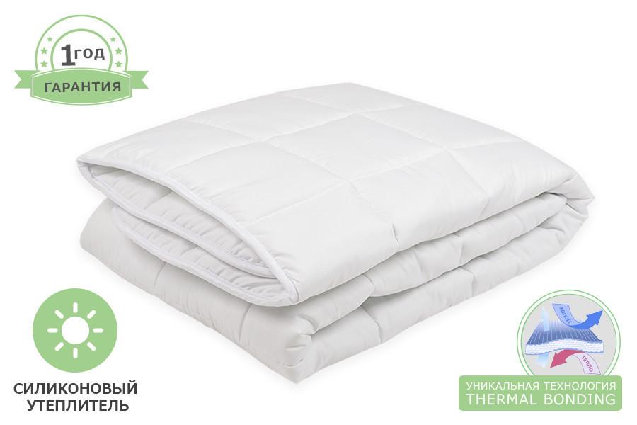 Одеяло силиконовое белое, размер 180 х 215 см, зимнее плюс