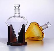 Графин 1000 мл, декантер для алкогольных напитков в форме бриллианта