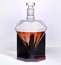 Графин 1000 мл, декантер для алкогольных напитков в форме бриллианта, фото 2
