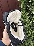 Мужские кроссовки New Balance 574 черные зимние (New Balance 574 зимові чоловічі), фото 2