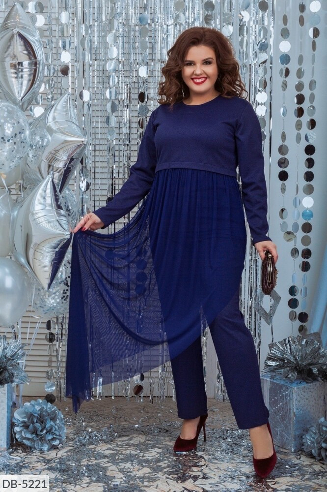 Костюм с брюками женский (Батал)