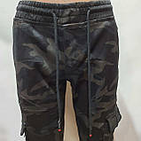 Зимние мужские джинсы, р. 30 последние теплые карго на флисе Vingvgs Камуфляж, фото 5