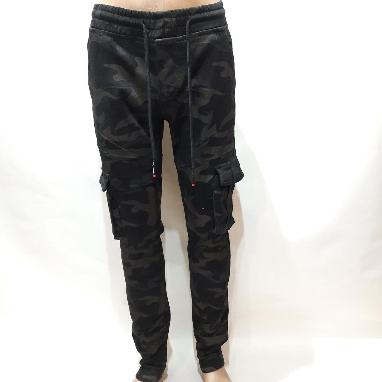 Зимние мужские джинсы, р. 30 последние теплые карго на флисе Vingvgs Камуфляж