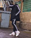 Зимняя мужская куртка Adid@s Originals черного цвета, фото 5