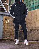 Зимняя мужская куртка Adid@s Originals черного цвета, фото 2
