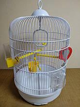 Клетка круглая для птиц REGINA FERPLAST (Ферпласт Регина) белая 32,5*49 см