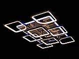 Светодиодная люстра с диммером и LED подсветкой, цвет чёрный хром, 220W, фото 2