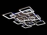 Светодиодная люстра с диммером и LED подсветкой, цвет чёрный хром, 220W, фото 3