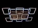 Светодиодная люстра с диммером и LED подсветкой, цвет чёрный хром, 220W, фото 5
