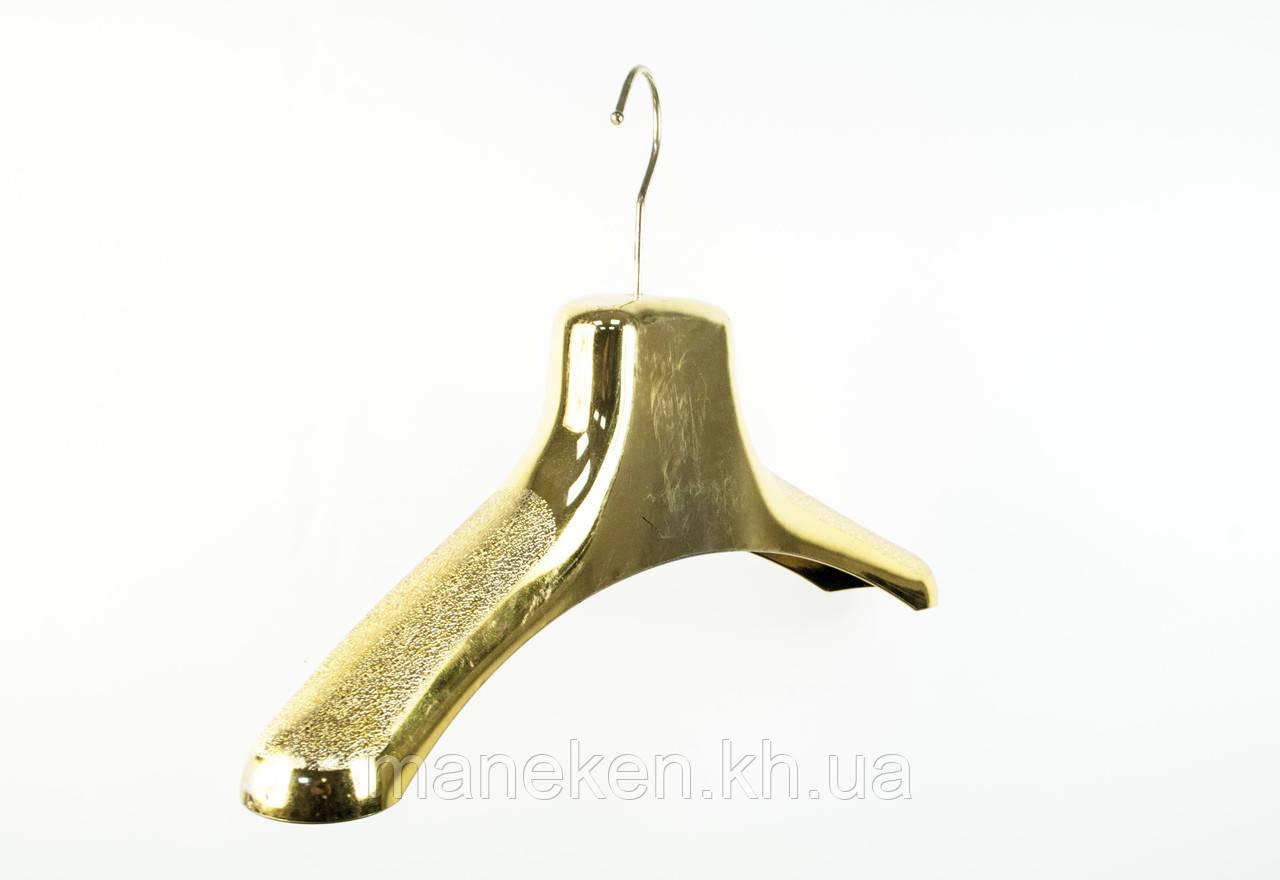Вішалка шубна золота 38см