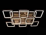 Светодиодная люстра с диммером и LED подсветкой, цвет чёрный хром, 220W, фото 7