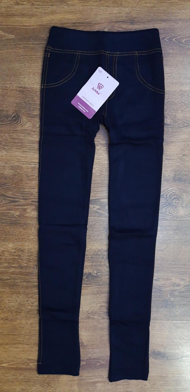 """Теплі жіночі лосини з хутром """"JuJube"""" в стилі джинсів  Art-989 ,L-2XL(44-50)"""