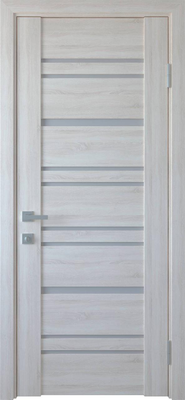 """Дверь межкомнатная """"Новый Стиль"""" модель Валенсия, ясень (со стеклом)"""