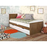 Деревянная детская кровать с дополнительным спальным местом Компакт