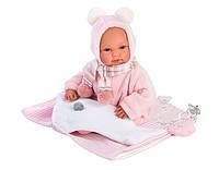 Кукла -пупс Llorens младенец плачущая в комбинезоне 63634 36 см