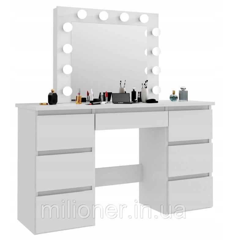 Туалетный столик с подсветкой Bonro- B072 белый