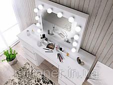 Туалетный столик с подсветкой Bonro- B072 белый, фото 3