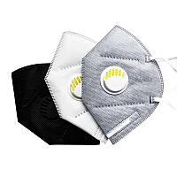 Респіратор ffp2 / KN95 з клапаном, колір білий