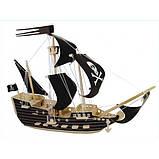 3D Деревянный конструктор. Модель Пиратский корабль, фото 3