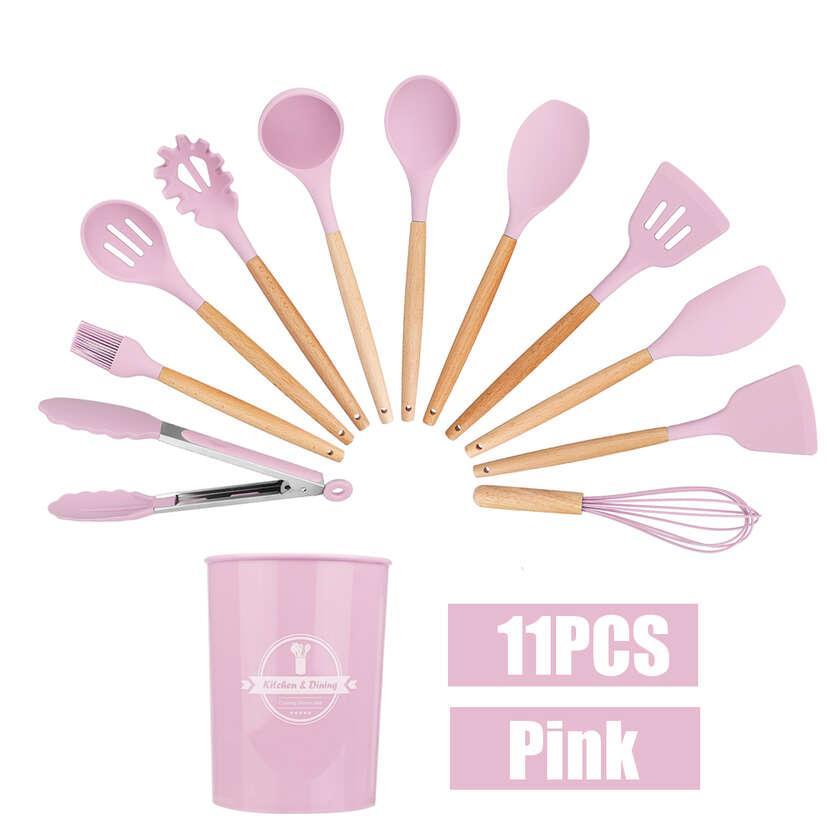 Сет кухонных силиконовых принадлежностей с органайзером (12 предметов)