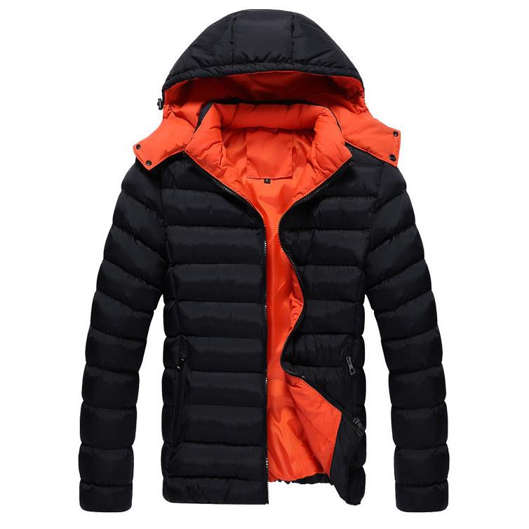 Куртка мужская весна-осень, черный пуховик  СС-5261-10 размер 44 (3XL)