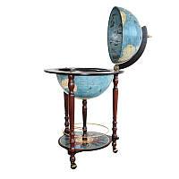 Глобус бар напольный Zoffoli Srl, Италия «Да Винчи» (Biue dust), h-90см, d -40см (248-0002)