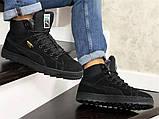 Мужские зимние кроссовки PUMA Suede черные замшевые, фото 2