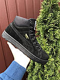 Мужские зимние кроссовки PUMA Suede черные замшевые, фото 6
