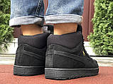 Мужские зимние кроссовки PUMA Suede черные замшевые, фото 7