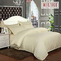 Качественный постельный комплект MERZUKA страйп-сатин Евро