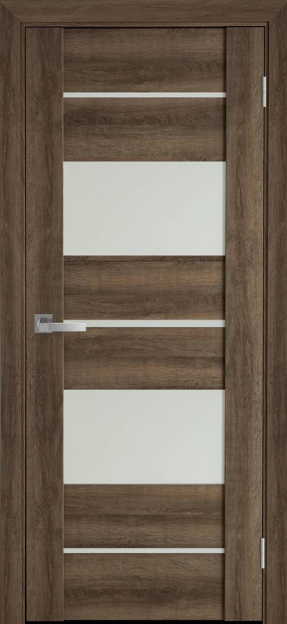 """Дверь межкомнатная """"Новый Стиль"""" модель Аскона, бук шато (со стеклом)"""