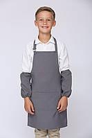 Фартук для уроков труда 11-18 лет габардин серый