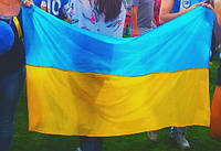 Флаг Ураины 140х90 см нейлон жёлто-голубой