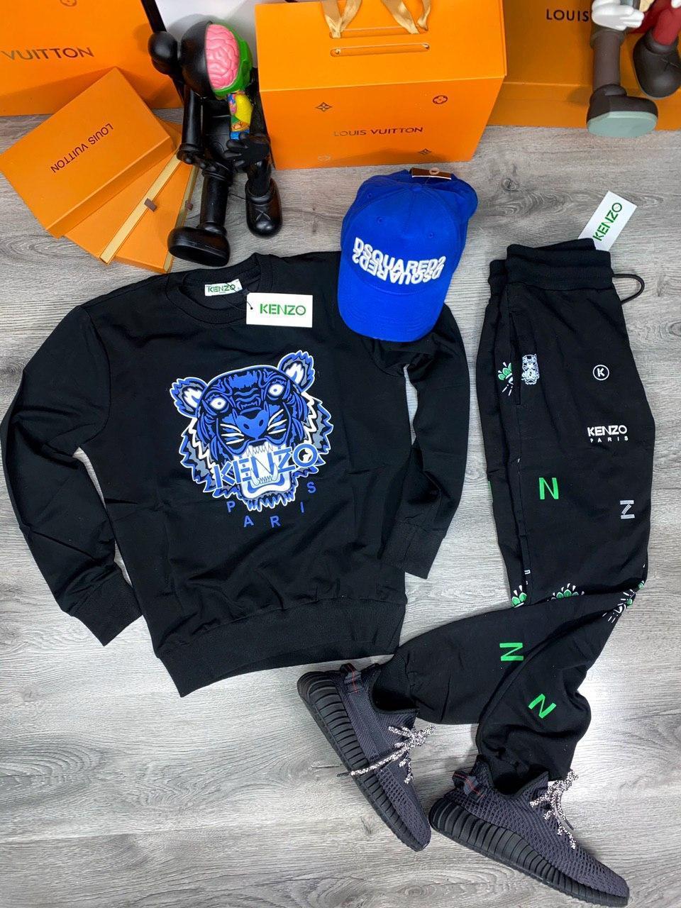 Мужской спортивный костюм KENZO Paris D10151 черный