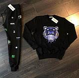 Мужской спортивный костюм KENZO Paris D10151 черный, фото 3
